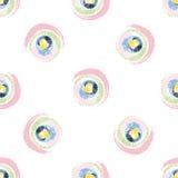Círculos coloridos do Grunge no fundo branco Foto de Stock Royalty Free
