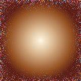 Círculos coloridos em um fundo dourado - Vektorgrafik eps 10 ilustração do vetor