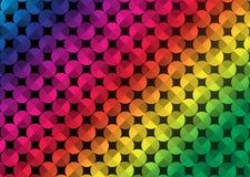Círculos coloridos sem emenda do sumário no fundo escuro fotos de stock royalty free