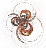 Círculos coloridos y curvas del fractal abstracto en blanco Fotos de archivo
