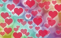 Círculos com amor Imagens de Stock Royalty Free