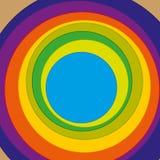 Círculos com cor variada Fotografia de Stock