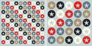 Círculos com fundo do teste padrão de estrelas Foto de Stock