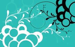 Círculos con las hojas Ilustración del Vector