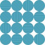 Círculos con las rayas azules en un modelo stock de ilustración