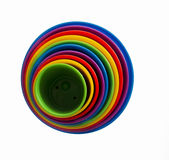 Círculos concéntricos coloreados Fotografía de archivo libre de regalías