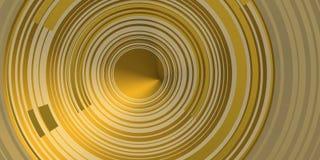 CÍRCULOS CONCÉNTRICOS de oro SOBRE contraluz de oro Fotografía de archivo libre de regalías