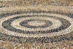 Círculos concéntricos del diseño de piedra del edificio Imagen de archivo libre de regalías