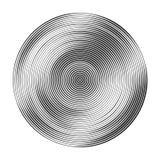 Círculos concéntricos monocromáticos con diversa anchura que hace a Foto de archivo libre de regalías