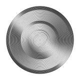 Círculos concéntricos monocromáticos con diversa anchura que hace a Fotos de archivo libres de regalías