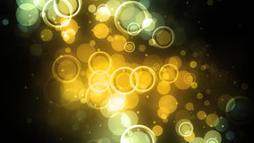 Círculos concêntricos amarelos Fotografia de Stock