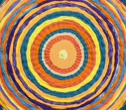 círculos concêntricos para formar um alvo feito de telas tecidas fotografia de stock royalty free