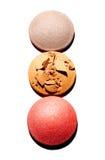 3 círculos cosméticos imagenes de archivo
