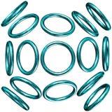 círculos 3d Imagens de Stock