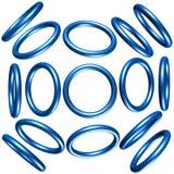 círculos 3d Imagens de Stock Royalty Free