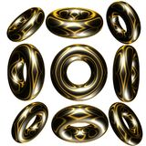 círculos 3d Imagem de Stock Royalty Free