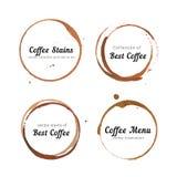 Círculos da mancha do café para o logotipo Fotografia de Stock