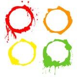 Círculos da tinta de fundo de Grunge. Frames do vetor Foto de Stock Royalty Free