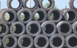 Círculos de aço fotografia de stock