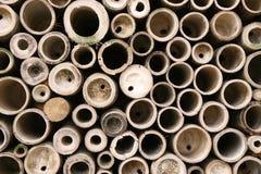 Círculos de bambú fotografía de archivo