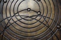 Círculos de bronce Imagen de archivo libre de regalías