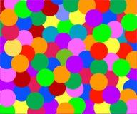 Círculos de coloração Fotografia de Stock