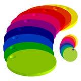 Círculos de cor Foto de Stock Royalty Free