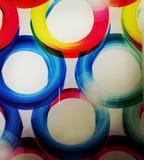 Círculos de cor na base de vidro fotografia de stock