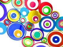 Círculos de cores vibrantes Fotografia de Stock