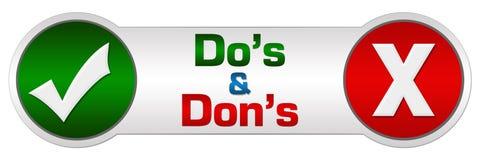 Círculos de Dos Donts Red Green Two Fotos de Stock