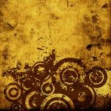 Círculos de Grunge ilustração stock