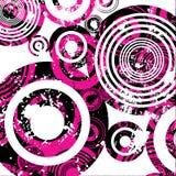Círculos de Grunge ilustração royalty free