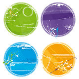 Círculos de Grunge - vector Imagen de archivo