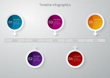 Círculos de Infographic de la cronología del ejemplo del vector stock de ilustración