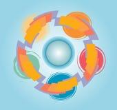 Círculos de Infograpihc Fotografía de archivo libre de regalías