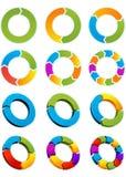 Círculos de la flecha Imágenes de archivo libres de regalías