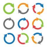 Círculos de la flecha Fotos de archivo