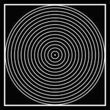 Círculos de la ilusión óptica B&W? Imágenes de archivo libres de regalías