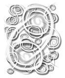 Círculos de los remolinos de los espirales blancos Fotos de archivo