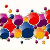Círculos de muita cor Imagens de Stock