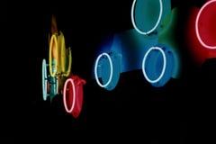 Círculos de néon Imagens de Stock Royalty Free