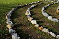 Círculos de pedra imagem de stock