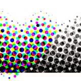 Círculos de semitono coloridos Fotografía de archivo