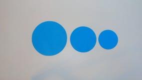 Círculos de tamanhos diferentes Foto de Stock Royalty Free