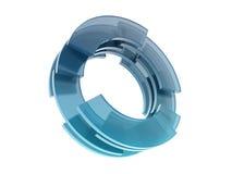 Círculos de vidro Imagem de Stock