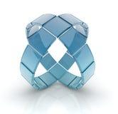 Círculos de vidro Imagens de Stock