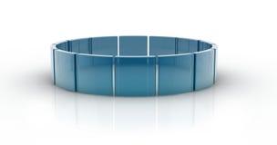 Círculos de vidro Fotografia de Stock Royalty Free