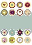 Círculos decorativos Backgroud Imágenes de archivo libres de regalías
