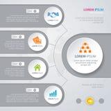 Círculos del blanco del diseño de Infographic del vector Fotografía de archivo