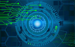 Círculos del fondo del interfaz de la tecnología y del negocio de Internet H Imagenes de archivo